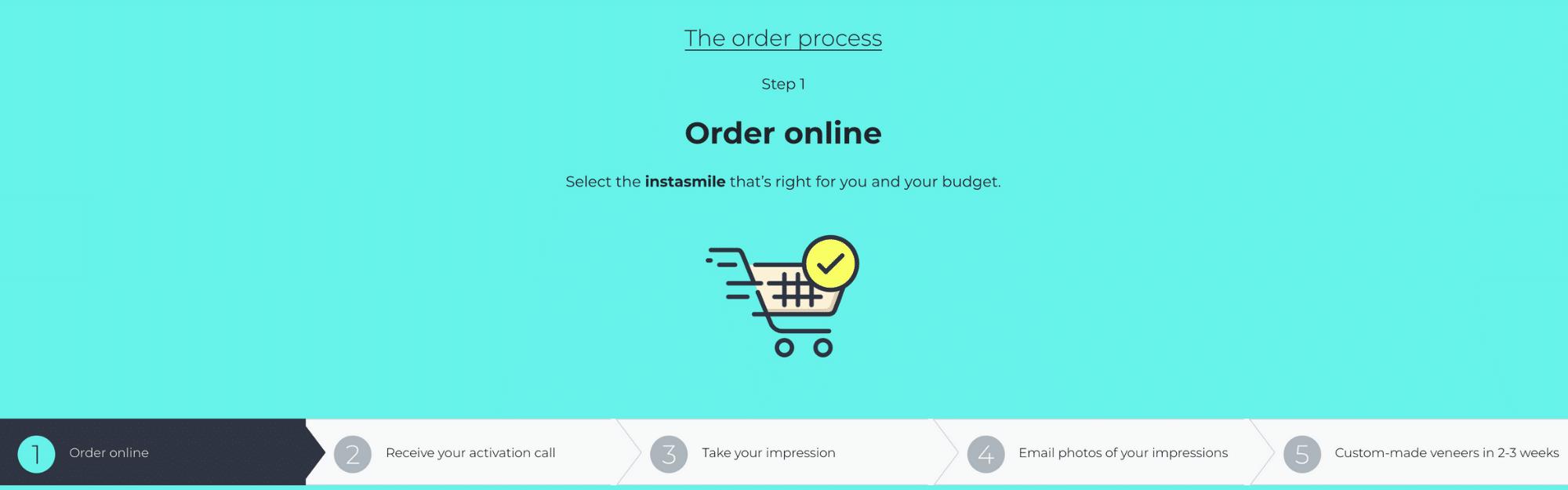 Instasmile Ordering Process