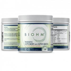 Biohm Probiotic supplement with super greens