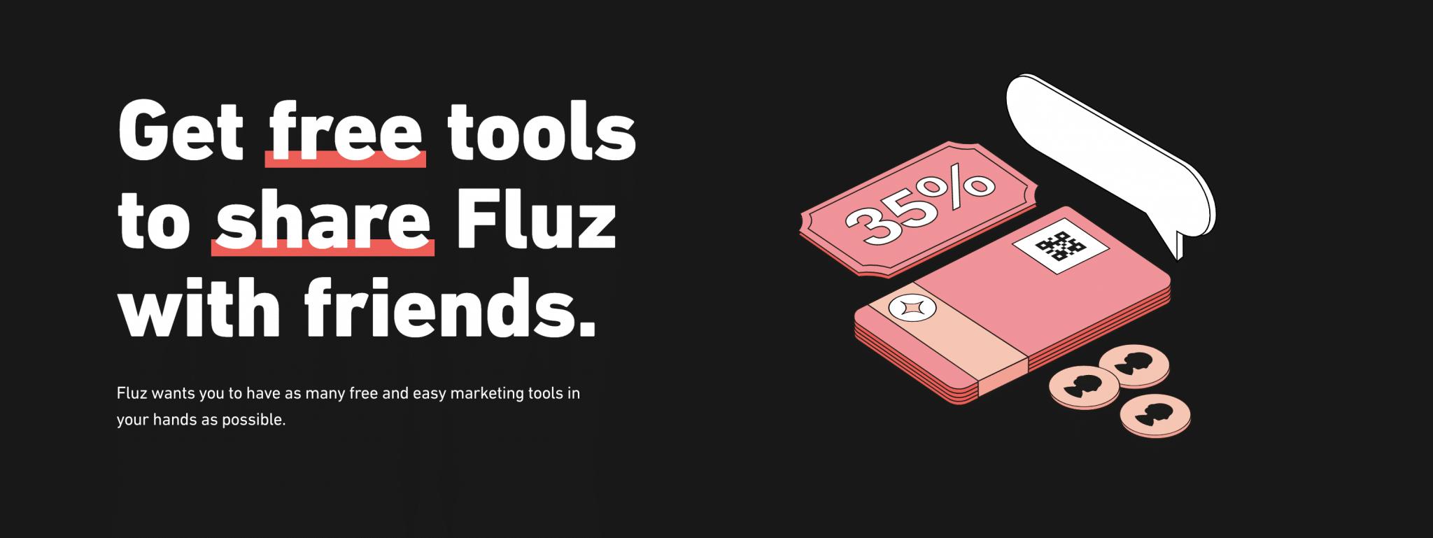Fluz cash back Marketing Tools