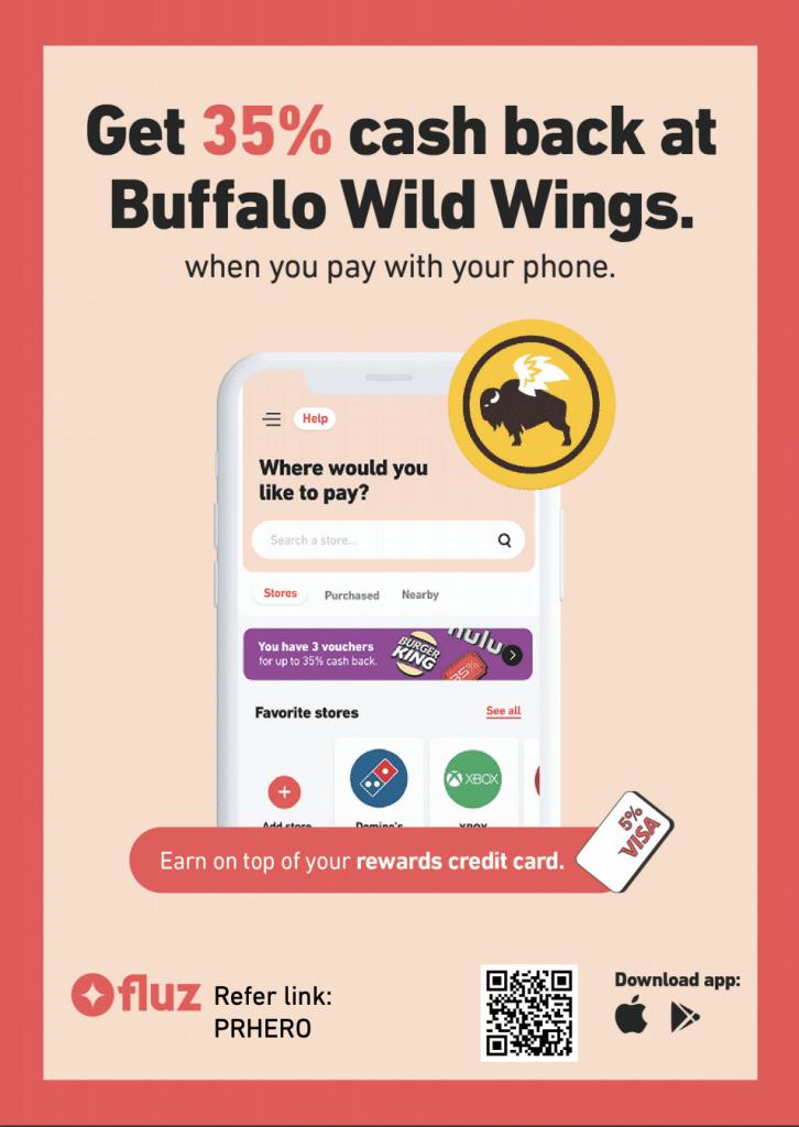 buffalo wild wings cashback