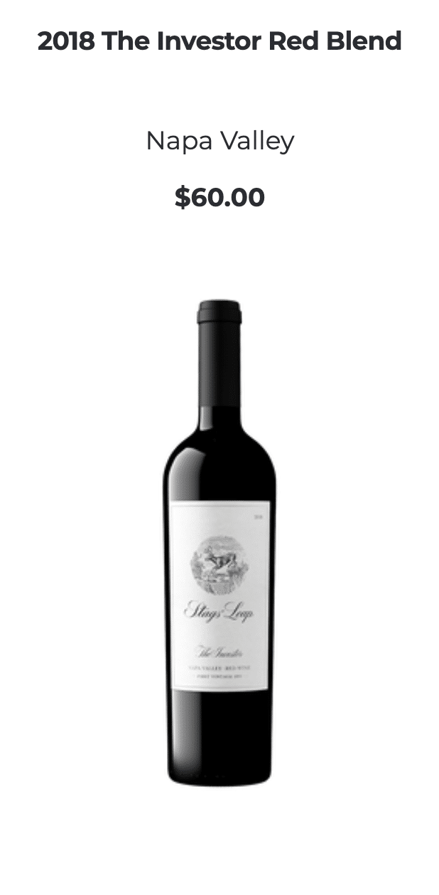Stags' Leap Red Blend