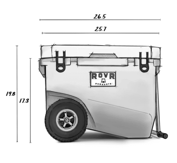 RovR RollR 60 Dimensions