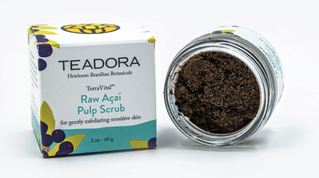Teadora Raw Acai Pulp Scrub